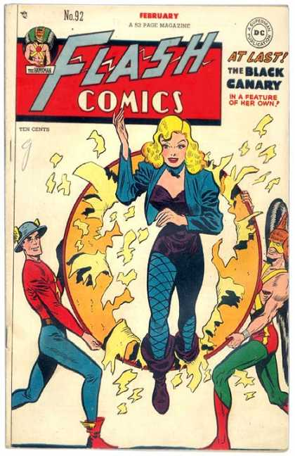Flash Comics 92 - Flash - Black Canary - February - No 92 - Dc Comics - Carmine Infantino