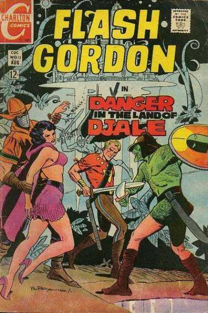 Flash Gordon 15 - Red - Yellow - Charlton Comics - Danger - Djale