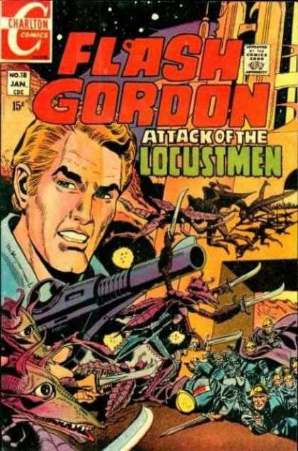 Flash Gordon 18 - Flash - Gordon - Locustmen - Charlton - Comics