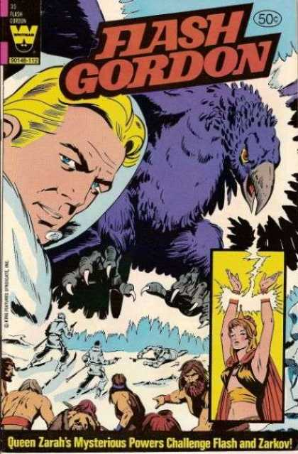 Flash Gordon 35 - 50 Cents - Blonde - Man - Blue Eyes - Bird