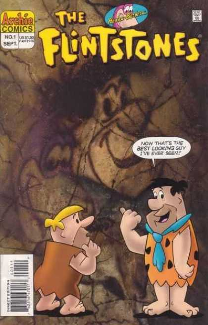 Flintstones 1 - Cave - Painting - Barney - Fred - Best Looking Guy