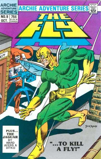 Fly 9 - The Jaguar - Roof - Archie Adventure Series - Ward Ayers - Ditko - Dick Ayers