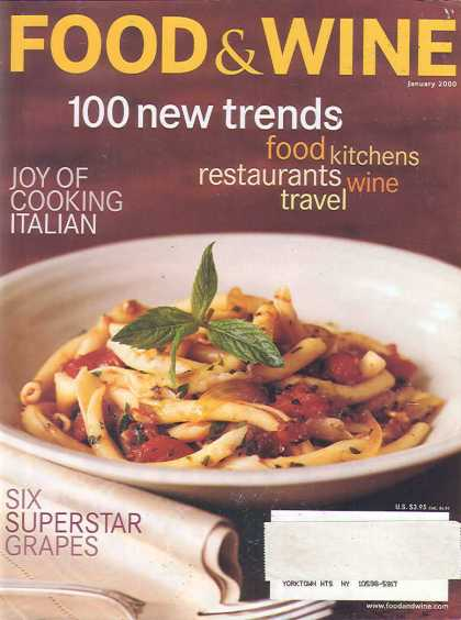 Food & Wine - January 2000