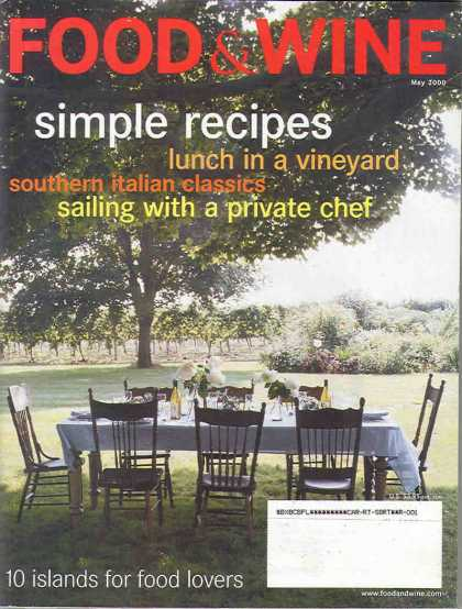 Food & Wine - May 2000