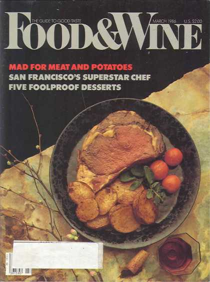 Food & Wine - March 1986