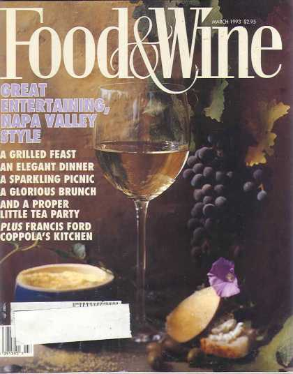 Food & Wine - March 1993
