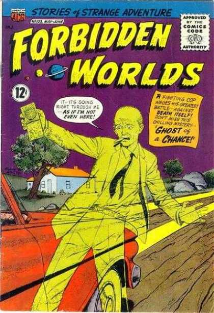 Forbidden Worlds 103 - Car - Ghost Of A Chance - Road - Headlights - House