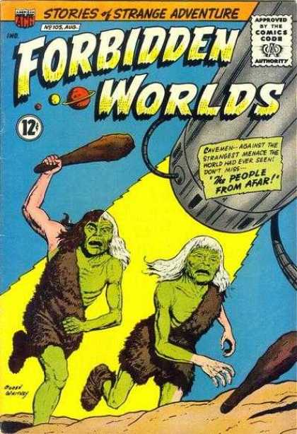 Forbidden Worlds 105 - Stories Of Strange Adventure - Approved By The Comics Code Authority - The People From Afar - Running - No 205 Aug