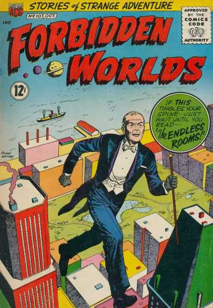Forbidden Worlds 107 - Stories - Strange - Adventure - Endless Rooms - Comics Code Authority