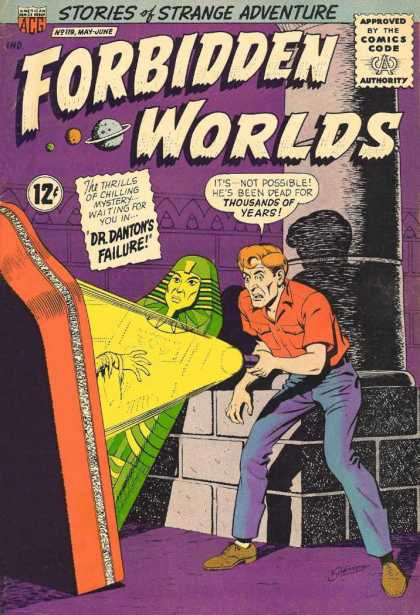 Forbidden Worlds 119 - Mummy - Tomb - Flasklight - Ray - Shock