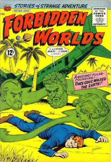 Forbidden Worlds 120 - Plane - Wreck - Palm Trees - Ghost - Tie
