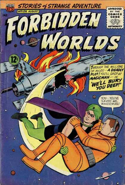 Forbidden Worlds 129 - No 129 - August - Magicman - Spaceship - Turban