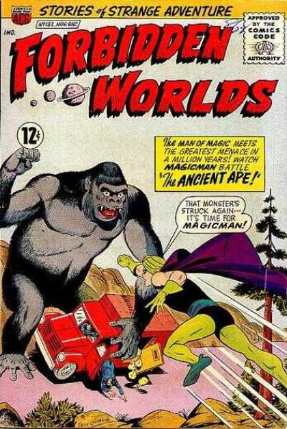 Forbidden Worlds 132 - Stories Of Strange Adventures - The Ancient Ape - Magic Man - Attacked - Galaxies
