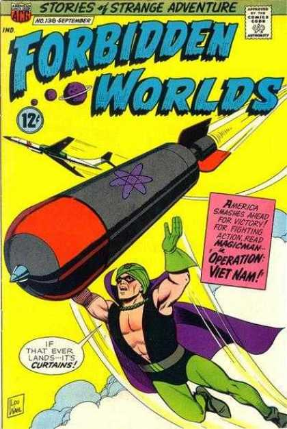 Forbidden Worlds 138 - Missile - Rocket - Jet - Planet - Saves The Day