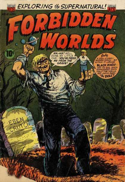 Forbidden Worlds 16 - Grave - Exploring The Supernatural - Eben Crutch - Monster - Black Magic