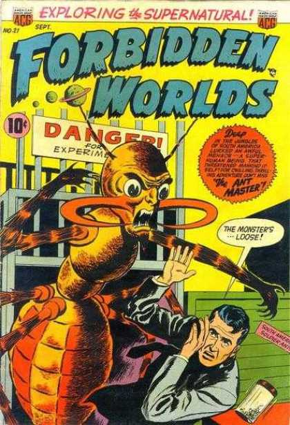 Forbidden Worlds 21 - Planet - Anetnna - Alien - Man - Insect