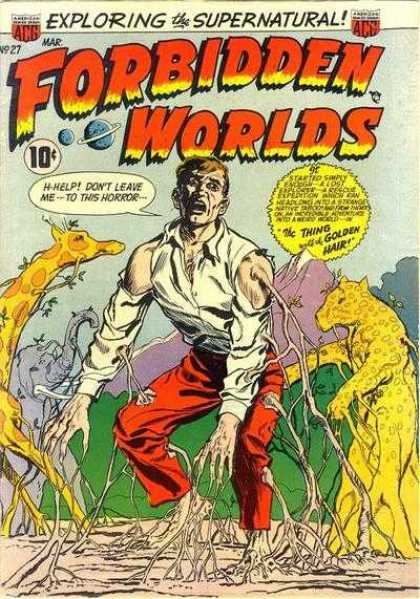 Forbidden Worlds 27 - Exploring The Supernatural - The Thing With Golden Hair - March Issue - H-help - Golden Animals