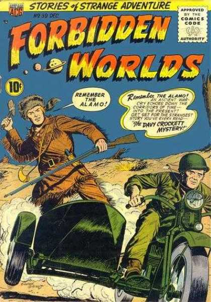 Forbidden Worlds 39 - Stories Of Strange Adventure - Remember The Alamo - The Davy Crockett Mystery - Squirrel Hat - Davy Crockett