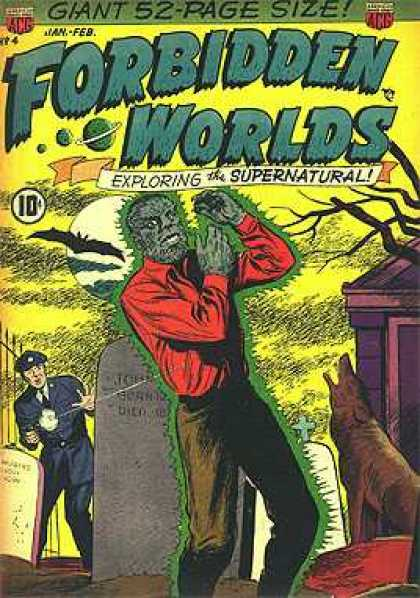Forbidden Worlds 4 - Supernatural - Saturn - Bat - Moon - Police