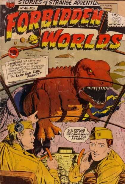 Forbidden Worlds 48 - Dinosaur - Forbidden Worlds - Strange Adventure - T-rex - The Land That Time Forgot