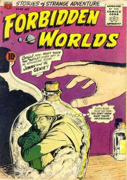 Forbidden Worlds 49 - Starnge Adventure - Forbidden - Worlds - Jimmy And The Genie - Comics Code Authority