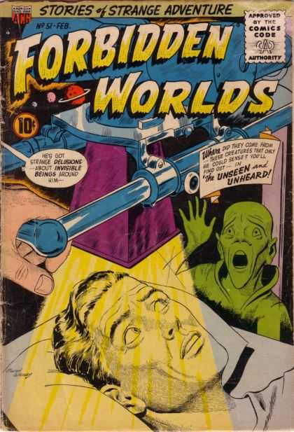 Forbidden Worlds 51 - Stories Of Strange Adventure - Green Man - Light - Jupiter - Bed