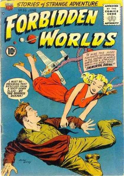 Forbidden Worlds 55 - Forbidden Worlds - Stories Of Strange Adventure - June - No 55 - Goddess Diana