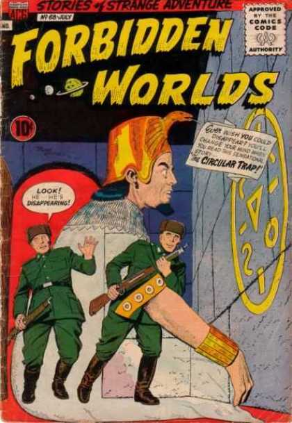 Forbidden Worlds 68 - 10c - Comics Code A - Stories Of Strange Adventure - Circular Trap