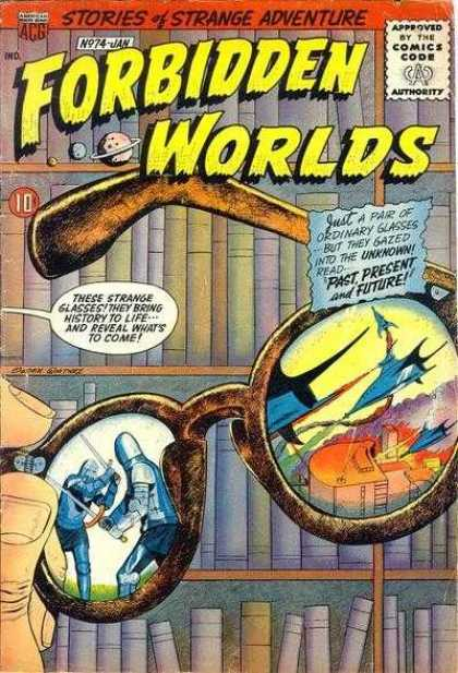 Forbidden Worlds 74 - Glasses - Past Present And Future - Books - Library - Gazing