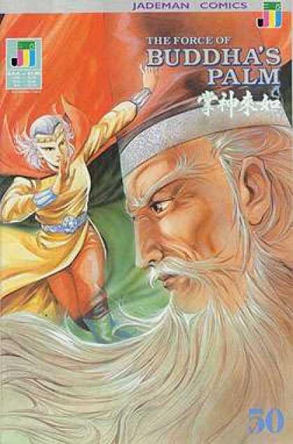Force of Buddha's Palm 50 - Jademan Comics - Old Man - Old Woman In Cape - Long White Beard - Armlets