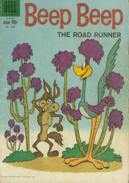 Four Color 1008 - Beep Beep - The Road Runner - Coyote - Catus - Confused