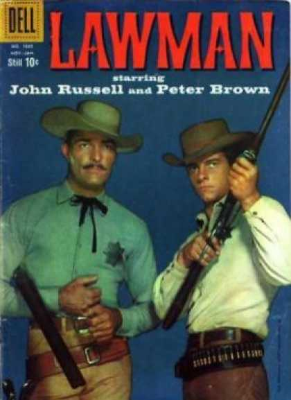 Four Color 1035 - Lawman - John Russell - Peter Brown - Starring - Gun