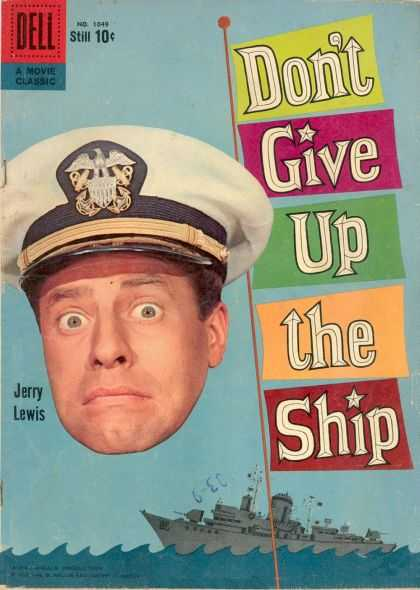Four Color 1049 - Jerry Lewis - Movie Classic - Dell - Dont Give Up The Ship - No 1549