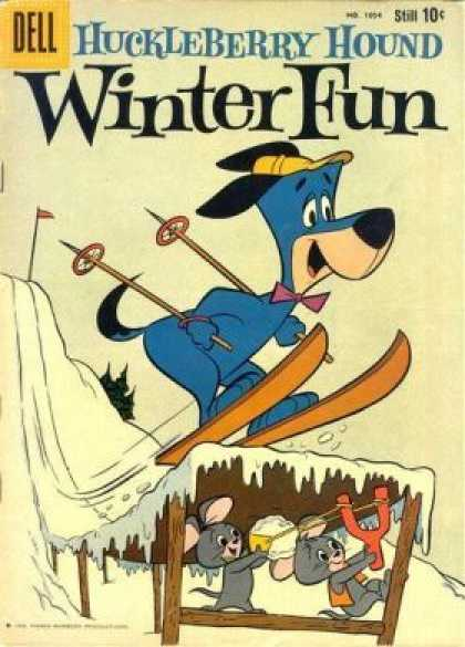 Four Color 1054 - Hucleberry Hound - Winter Fun - Skiing - Dell - Snow