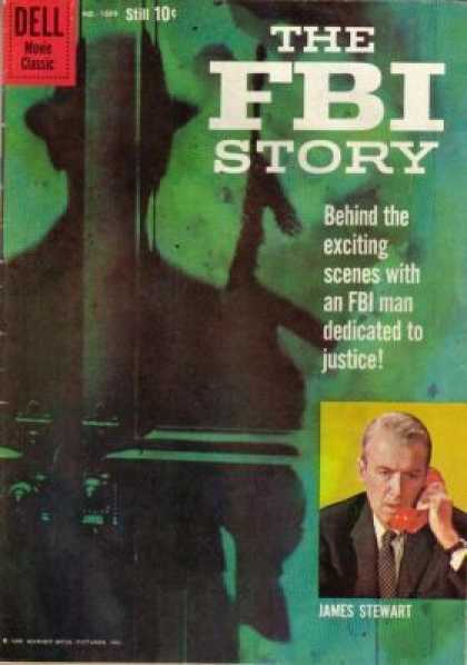 Four Color 1069 - The Fbi Story - James Stewart - Dell - Shadow - Movie Classic