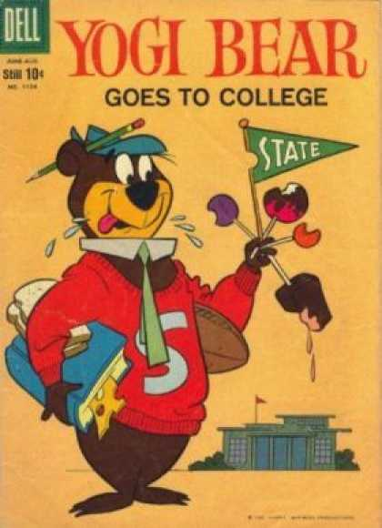 Four Color 1104 - Dell - Yoga Bear - Goes To College - Pencil - State