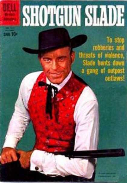 Four Color 1111 - Shotgun Slade - Western - Stop Robberies - Outlaws - Red Vest