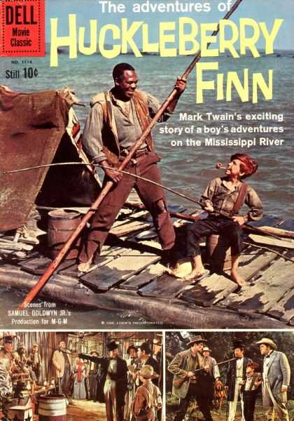 Four Color 1114 - Dell - Huckleberry Finn - African American - Mark Twain - Raft