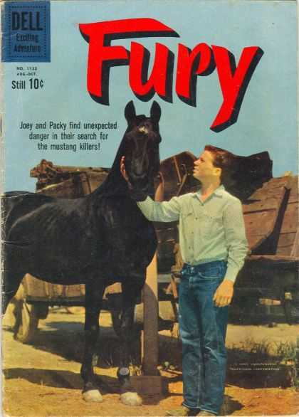 Four Color 1133 - Dell - Fury - Horse - 10 Cents - Man