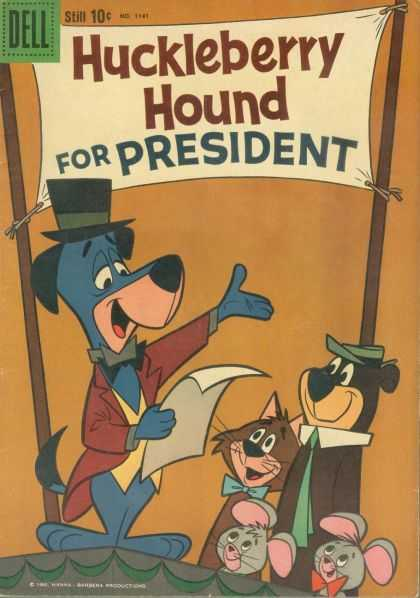 Four Color 1141 - Huckleberry Hound - Top Hat - Yogi Bear - Mice - Cat