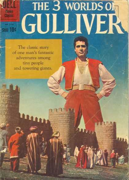 Four Color 1158 - Dell - Gulliver - Castle - Giant - People
