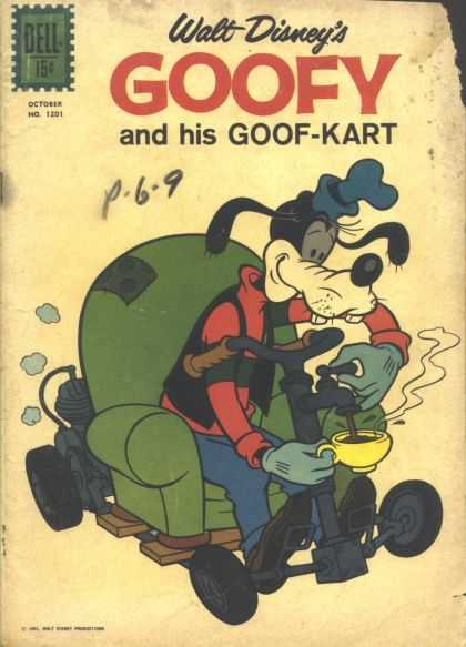 Four Color 1201 - Goofy And His Goof-kart - Disney - Armchair - Motor - Coffee