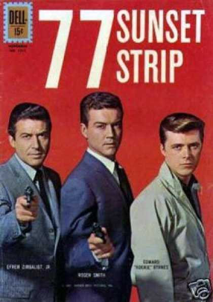 Four Color 1211 - Guns - Three Men - Suits - Dell - 77 Sunset Strip