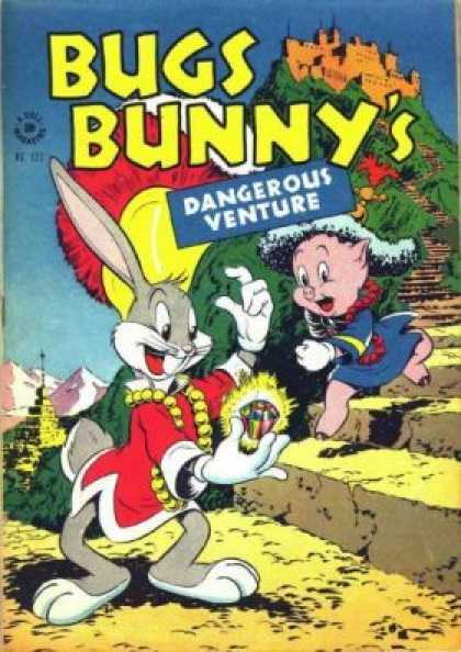 Four Color 123 - Adventures Of Bugs Bunny And The Pig - The Ravaged Diamond - The Haunted Castle - Mystery Adventures - The Mystral Bunny