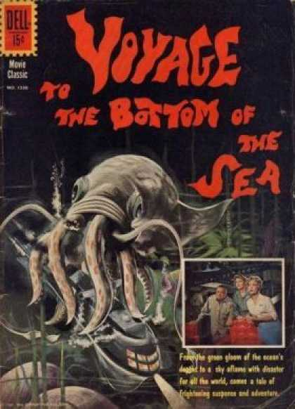 Four Color 1230 - Movie Comic - Giant Squid - Underwater - Classic Comic - Squid Attack