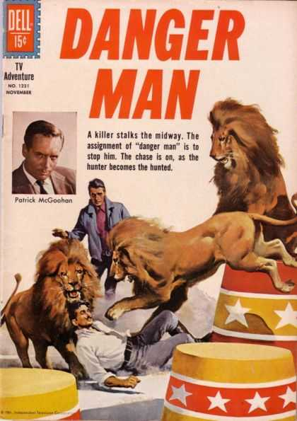 Four Color 1231 - Danger Man - Dell - Tv Adventure - Lion - Men