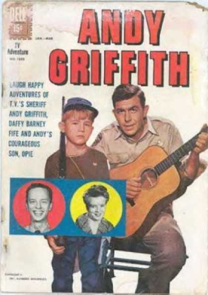 Four Color 1252 - Andy Griffith - Opie - Guitar - Cap Gun - Fife