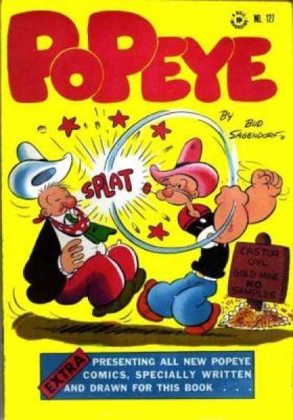 Four Color 127 - Popeye - Cowboy Hats - Onomatopoeia - Splat - Pipe