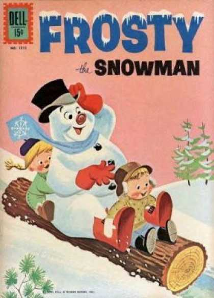 Four Color 1272 - Snowman - Kids - Log - Sliding - Snow