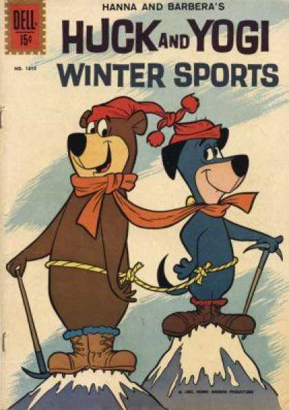 Four Color 1310 - Huck And Yogi - Winter Sports - Hanna And Barbera - Huckleberry Hound - Yogi Bear